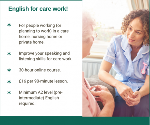 English for care work